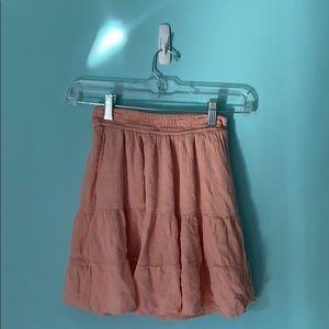 Hollister high rise pink layer skirt